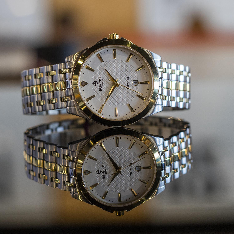 Đồng hồ nam Sunrise DM786SWA [Full Box] - Kính Sapphire, chống xước, chống nước - Dây thép không gỉ