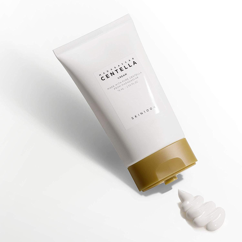 Combo 2 Kem Dưỡng Da Rau Má Dưỡng Ẩm và Làm Dịu Da Mụn, Da Khô Sáng và Tối Skin1004 Madagascar Centella Soothing Cream 75mlx2