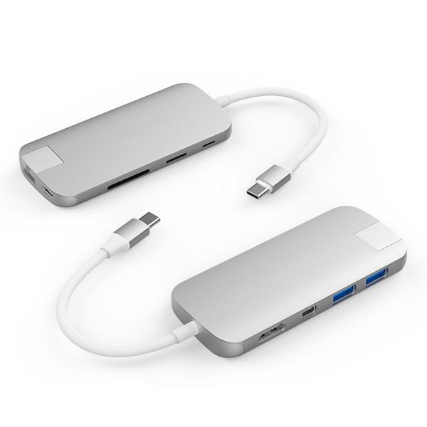 Cổng chuyển Hyper HyperDrive Slim 8 in 1 USB-C Hub dành cho Macbook, PC và Devices - Hàng Chính Hãng