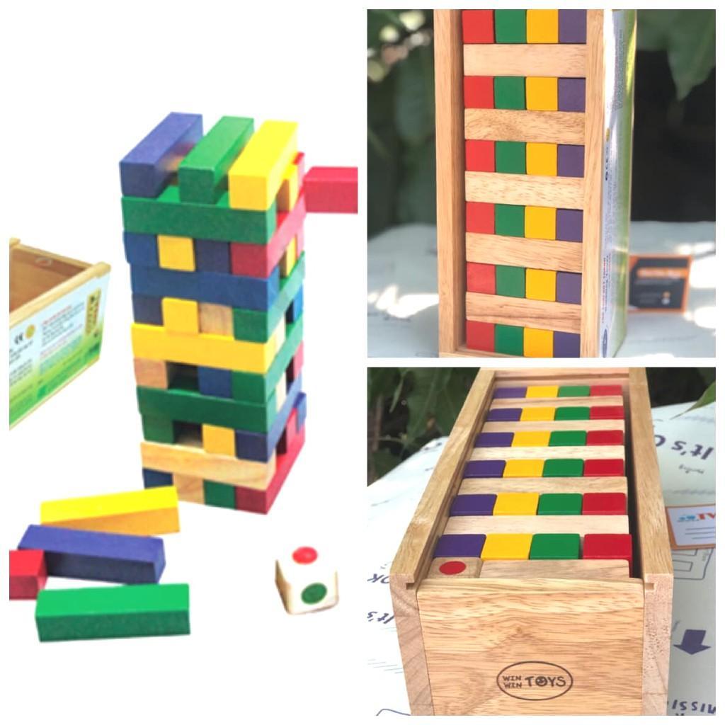 Trò chơi rút thanh Winwintoys   Đồ chơi xếp khối và rút gỗ theo màu   Đồ chơi gỗ Việt Nam