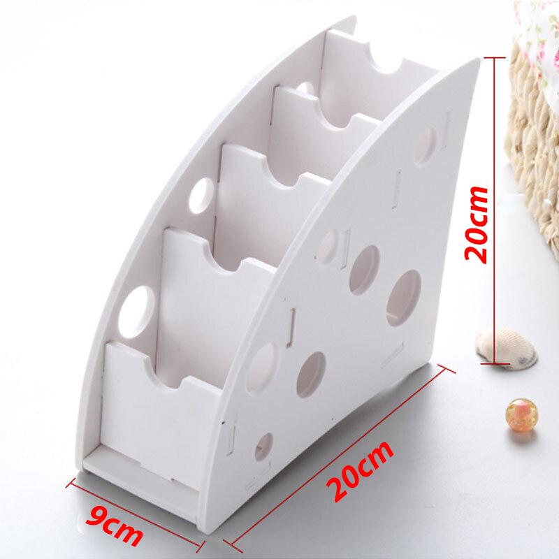 Kệ gỗ CNC đa năng đựng điều khiển đồ dùng văn phòng 4 tầng