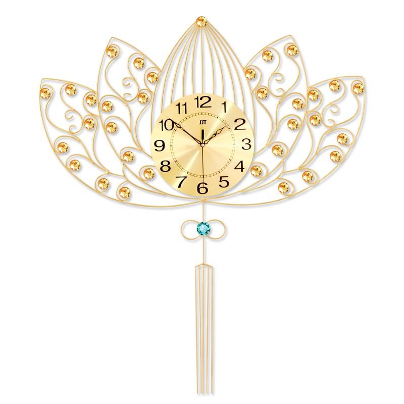 Đồng hồ treo tường nghệ thuật - Hoa sen An nhiên 685