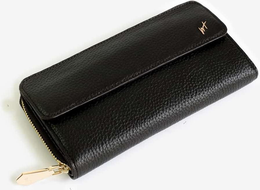 Ví Cầm Tay Nữ Có Quai Đeo Da Bò Cao Cấp Màu Nâu WT Leather 0907.1