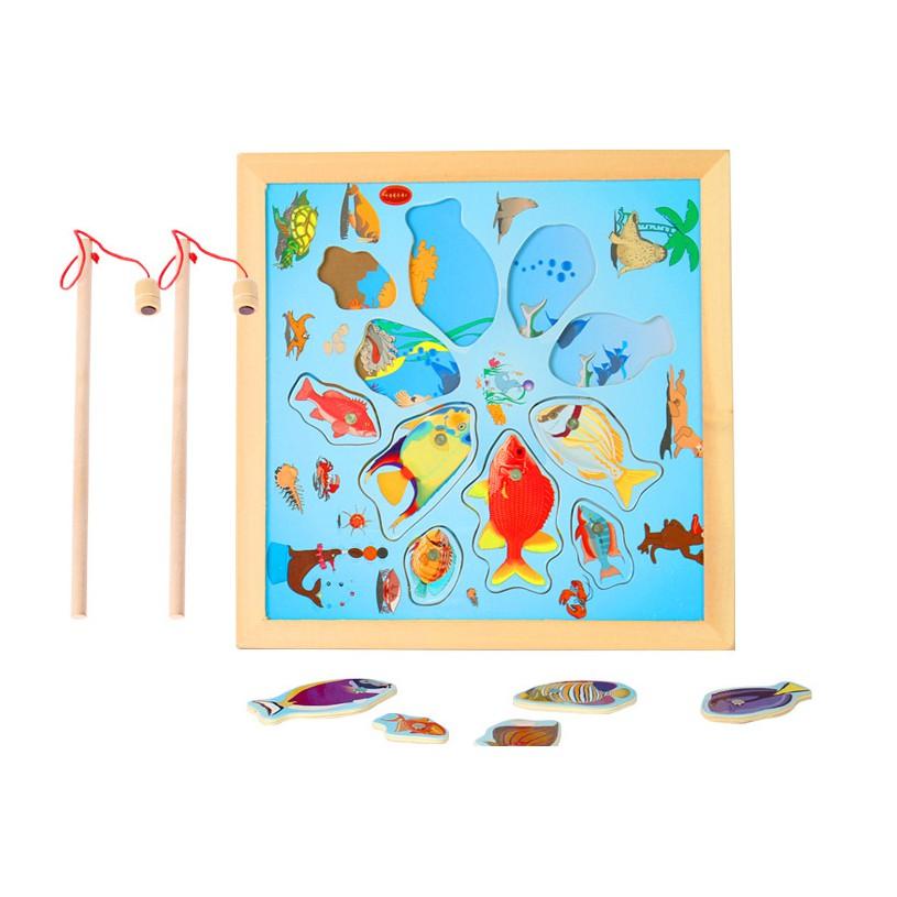 Bộ câu cá đại dương bằng gỗ loại 2 cần