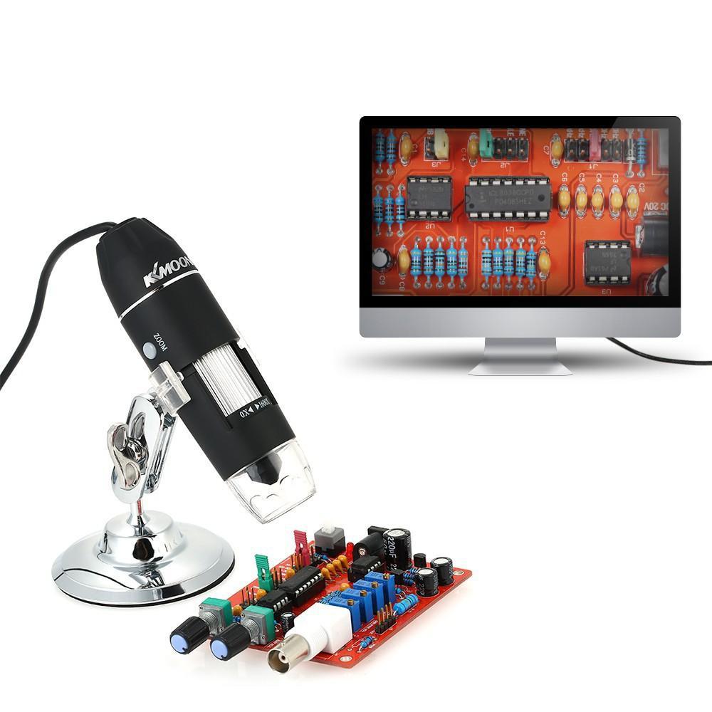 Kính hiển vi kỹ thuật số cắm USB, Kính hiển vi điện tử kết nối máy tính độ phóng đại 500-1600X