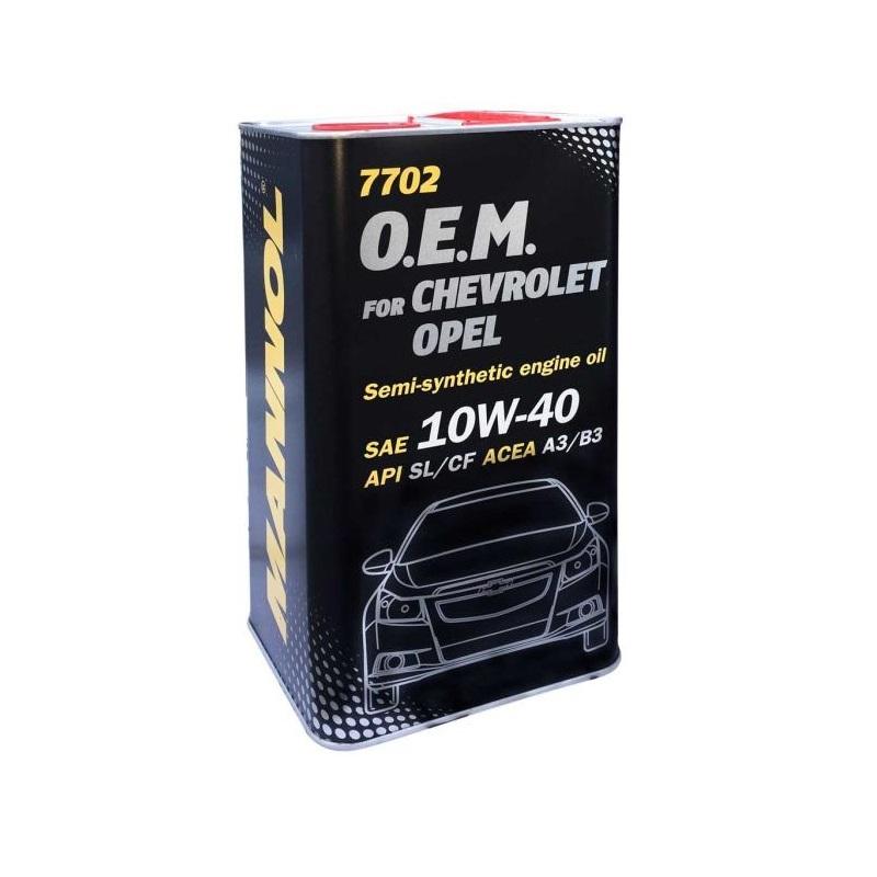 Nhớt MANNOL 7702 Chuyên Dùng Cho Xe Chevrolet, Opel SAE 10W-40 API SL/CF ACEA A3/B3 – 4 Lít [100% Germany]