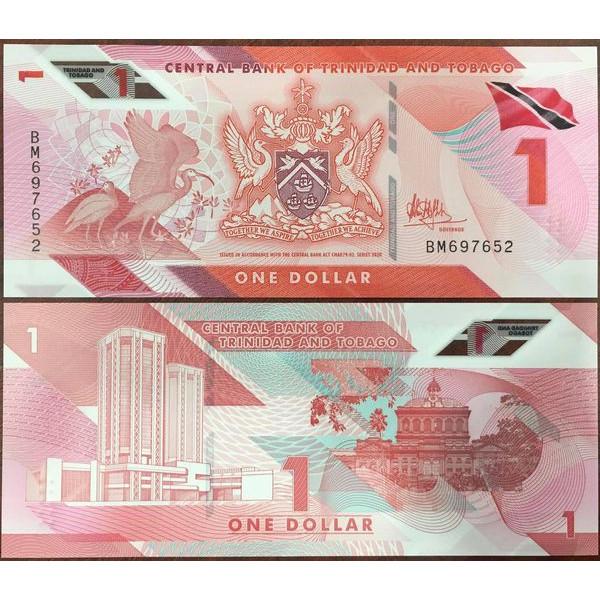 Tiền Sưu Tầm Mới Phát Hành Quốc Gia Caribbean Trinidad and Tobago 1 dollar 2021 Polymer Mới 100%