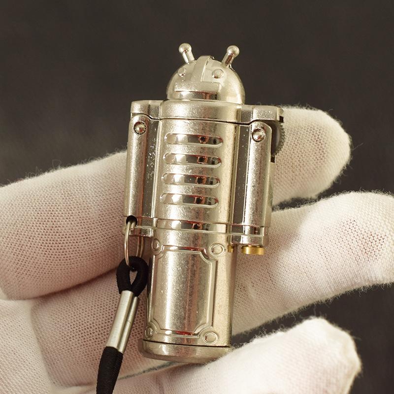Hộp Quẹt Bật Lửa Xăng Đá 712 Thiết Kế Kiểu Dáng Robot Đẹp Độc Lạ - Dùng Xăng Bấc Đá Cao Cấp ( giao màu ngẫu nhiên )