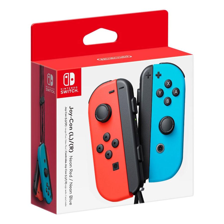 Tay Cầm Nintendo Switch Joy-Con Neon Red/Neon Blue - Hàng Nhập Khẩu