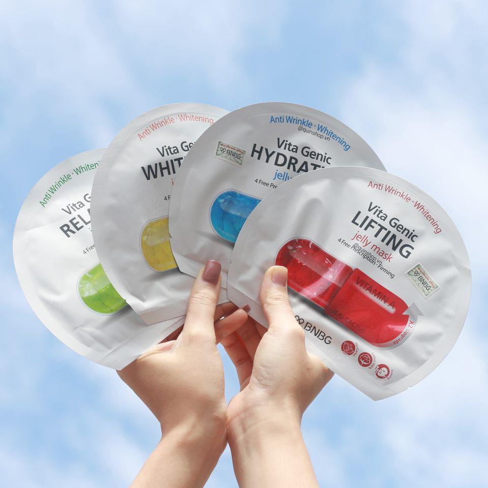 Mặt Nạ  Giấy Dưỡng Ẩm BNBG Vita Genic Hydrating Jelly Mask 30ml (Xanh dương)