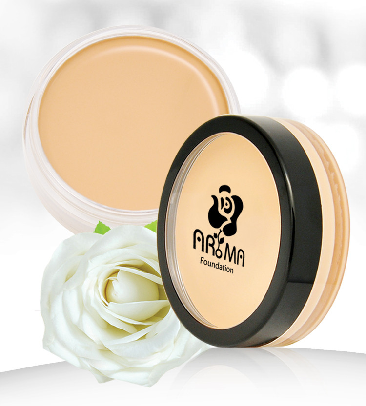 Kem che khuyết điểm Aroma Cover Foundation Hàn Quốc 14g No.21 Light Beige tặng kèm móc khoá 1
