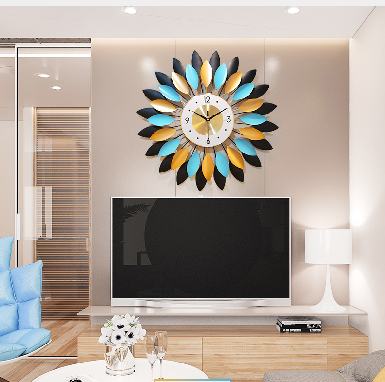 Đồng hồ treo tường trang trí hình bông hoa 3D-DSN112 (KT 70x70cm)