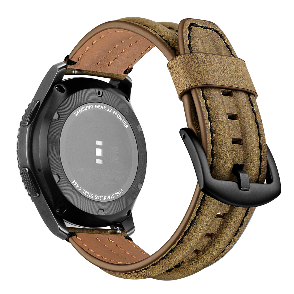 Dây Da Bò cho Galaxy Watch 3 41mm / Galaxy Watch 42 / Garmin / Ticwatch / Galaxy Watch Active 2 (Size 20mm)