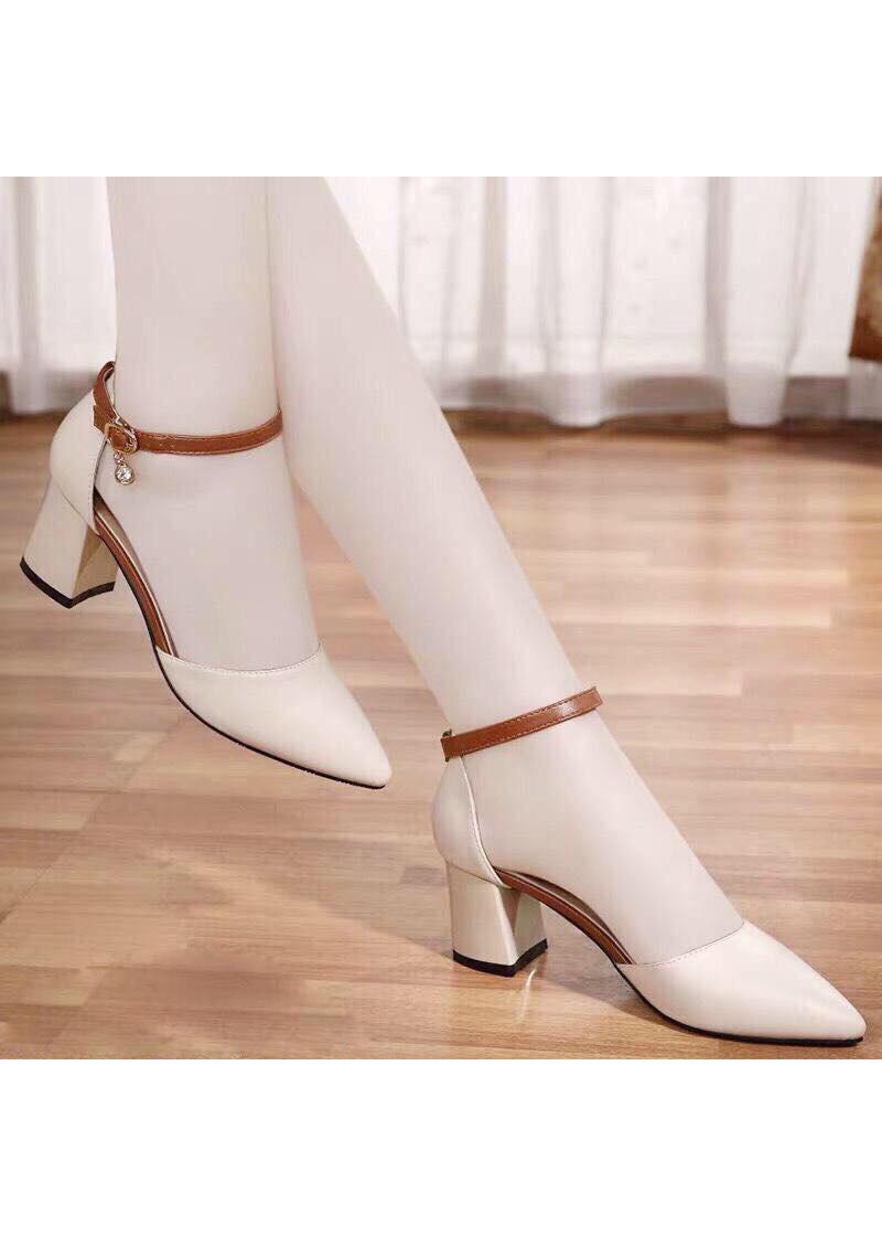 Giày Sandal Cao Gót 7 Phân Mũi Nhọn Tuyệt Phẩm Bền Đẹp Sang Chảnh (9031)