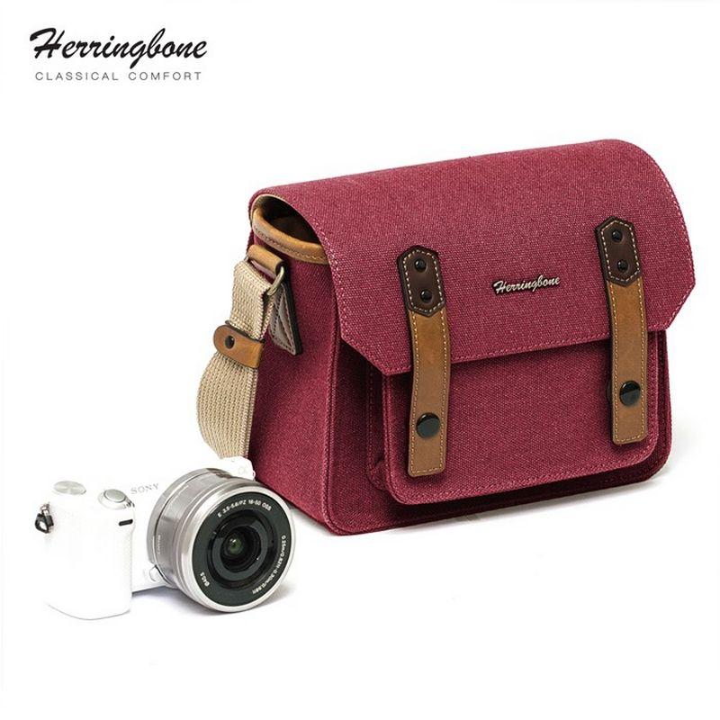 Túi máy ảnh Herringbone Papaspocket 3 Mini - Wine color - Hàng chính hãng
