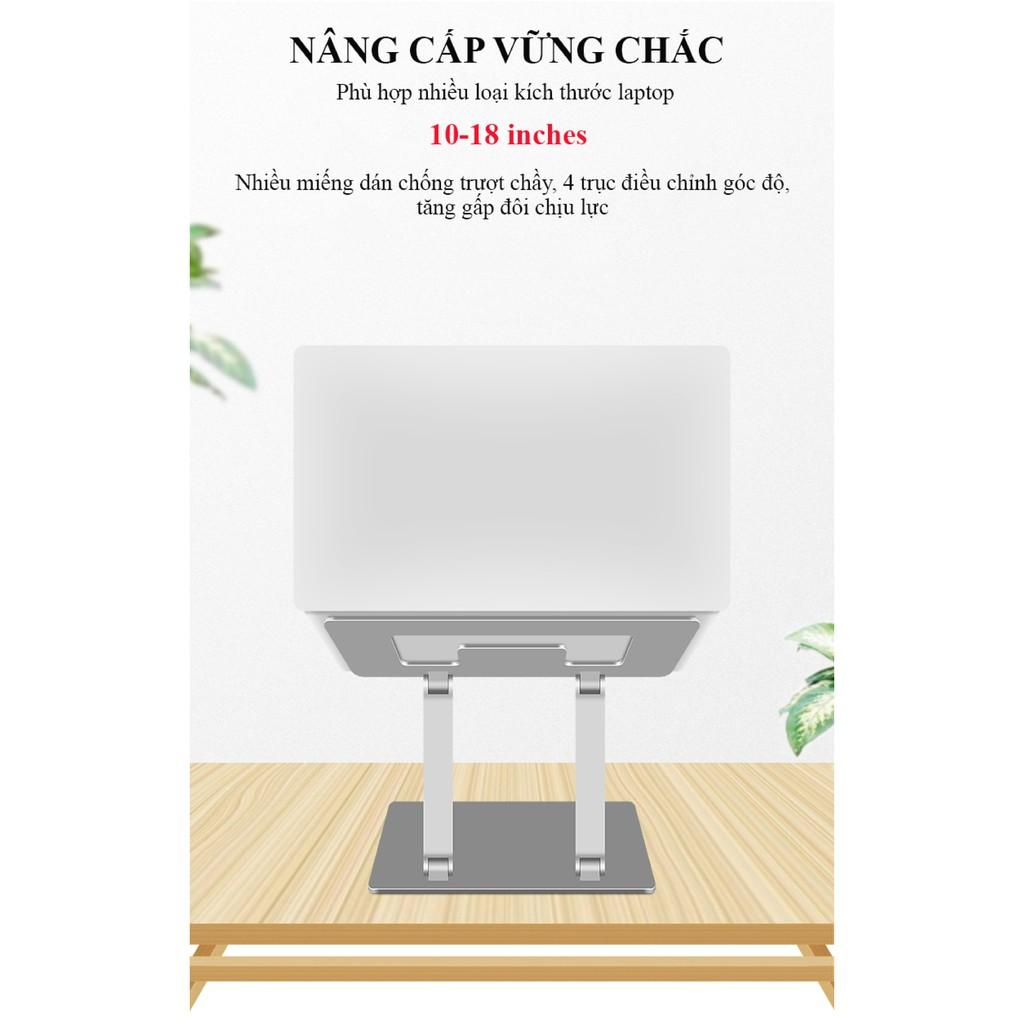 Giá Đỡ Laptop Macbook Để Bàn Chất Liệu Hợp Kim Nhôm Cao Cấp Tản Nhiệt – Nâng Hạ Điều Chỉnh Độ Cao
