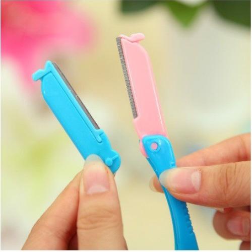 Combo khuôn kẻ lông mày và dao tỉa lông mày