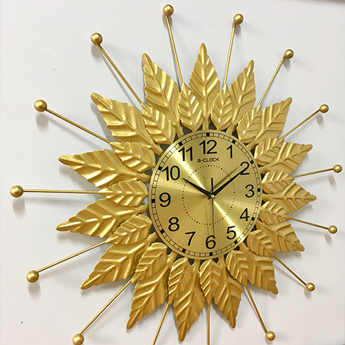 Đồng hồ treo tường MONSKY GCLOCK loại to KT 70x70 (cm) cao cấp làm từ kim loại sơn tĩnh điện chạy máy kim trôi chuẩn (2005)