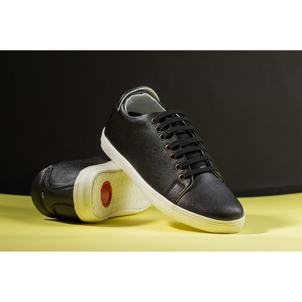 Giày Thể Thao Nam Màu Đen Tăng Chiều Cao 6Cm Không Hề Lộ Cực Đẹp - Cực Chất - M360-DEN(ĐG)- Kèm Đón Gót Sừng