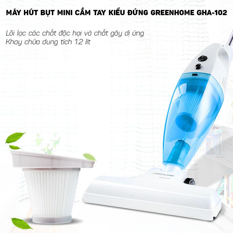 Máy hút bụi mini cầm tay 600W GreenHome GHA-102 đa chức năng (Hàng chính hãng)