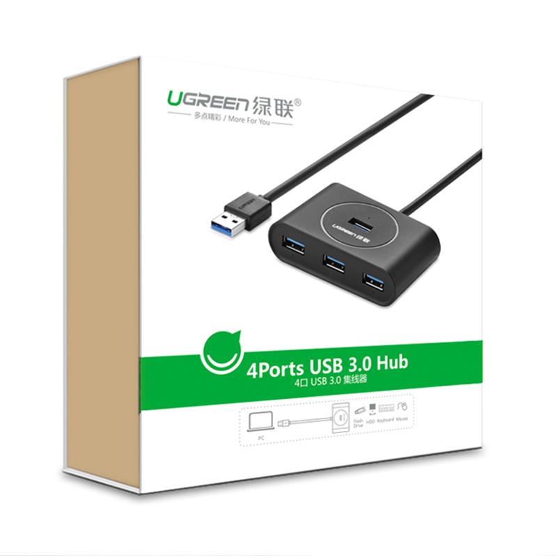 Bộ chia 4 cổng USB 3.0 dài 80cm UGREEN CR113 20291 - Hàng chính hãng