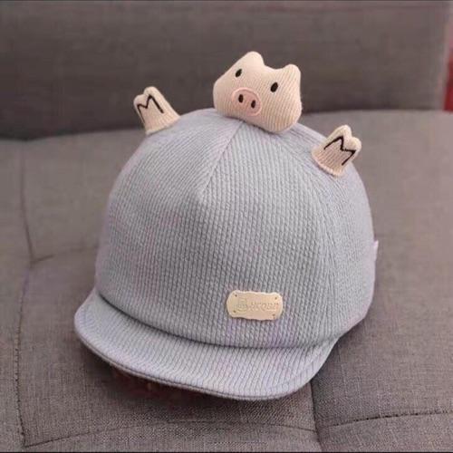 Mũ lưỡi trai hình chú lợn đáng yêu cho bé