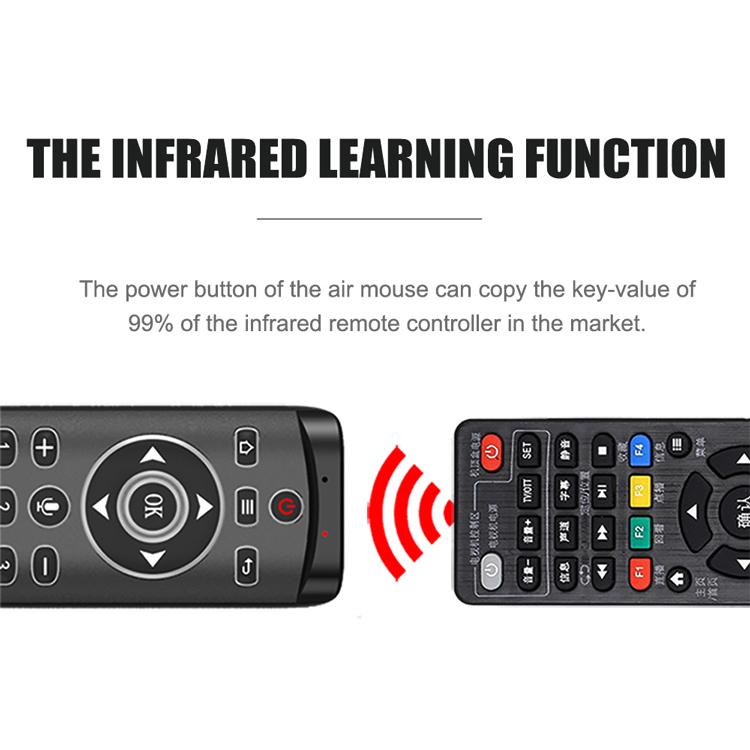 Chuột bay tích hơp điều khiển giọng nói có đèn LED, điều khiển chuột bay, có phím số, chuyên dùng cho Android box ILEPO MT1