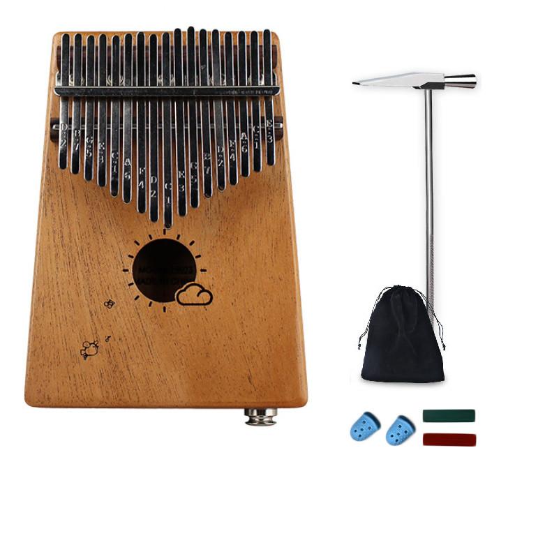 Kalimba 17 phím Mahagony có EQ họa tiết chim hót và mây ngộ nghĩnh KLEQ0297 đầy đủ phụ kiện tặng túi nhung bảo vệ đàn