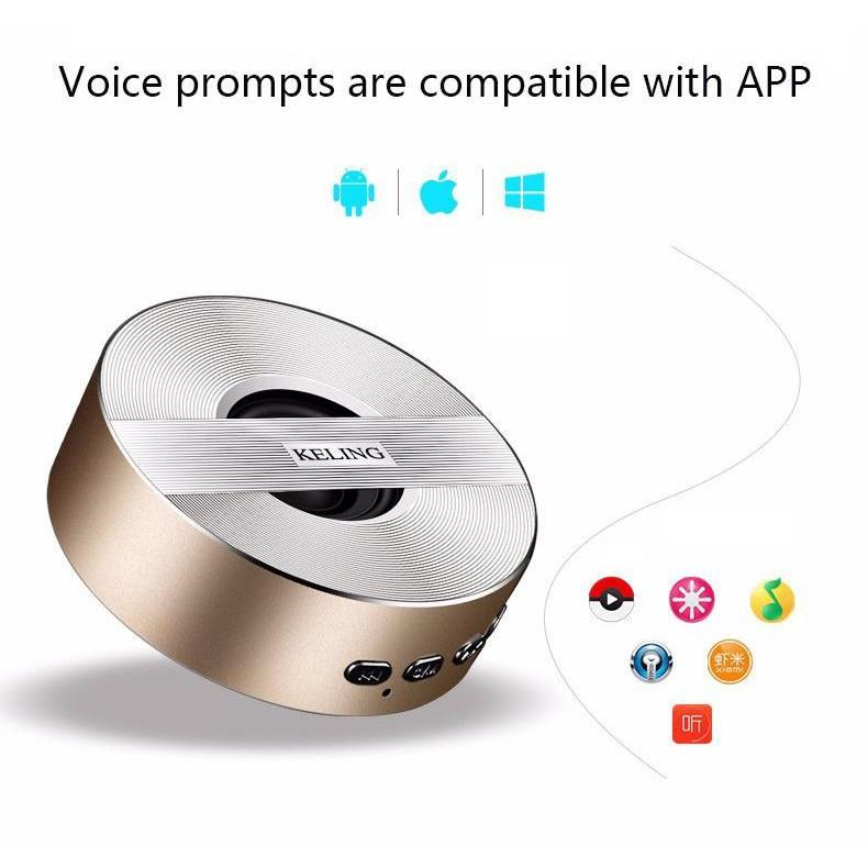 Loa Không Dây Bluetooth 4.1 Cho iOS/Apple (iPhone iPad), Android (Samsung Sony Xiaomi Huawei Oppo) KELING A5  giao màu ngẫu nhiên - Hàng Chính Hãng