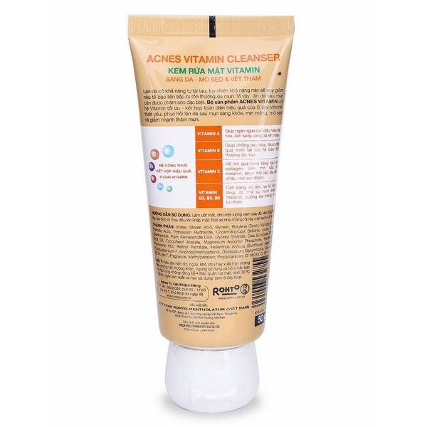 Sữa Rửa Mặt Vitamin Acnes (50g)