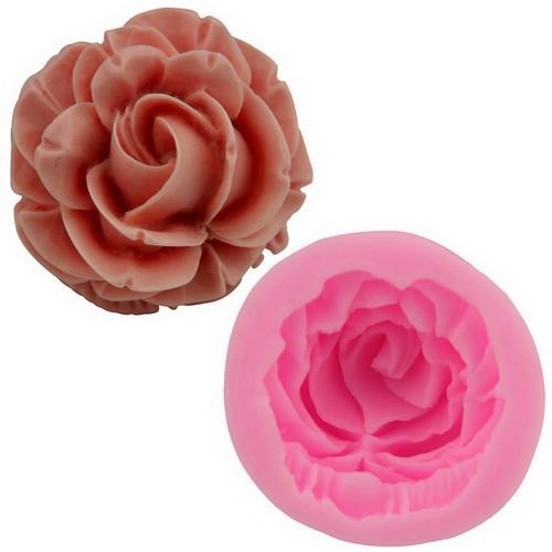 Khuôn rau câu silicon hoa hồng xoáy
