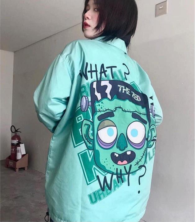 áo khoác dù mặt quỷ in what