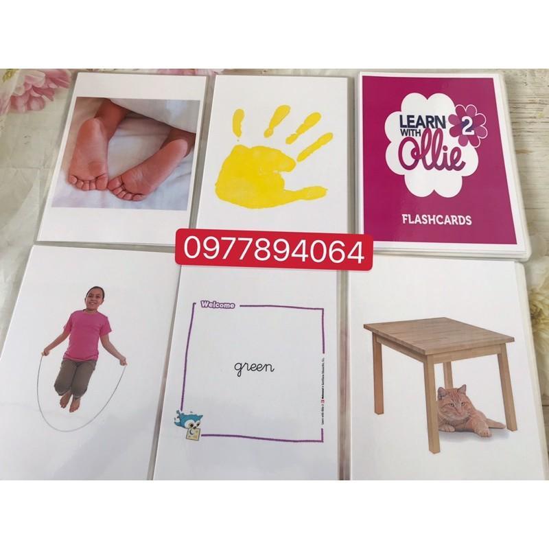 Flashcards  Learn with Ollie level 2 ️in 2 mặt️ép plastics