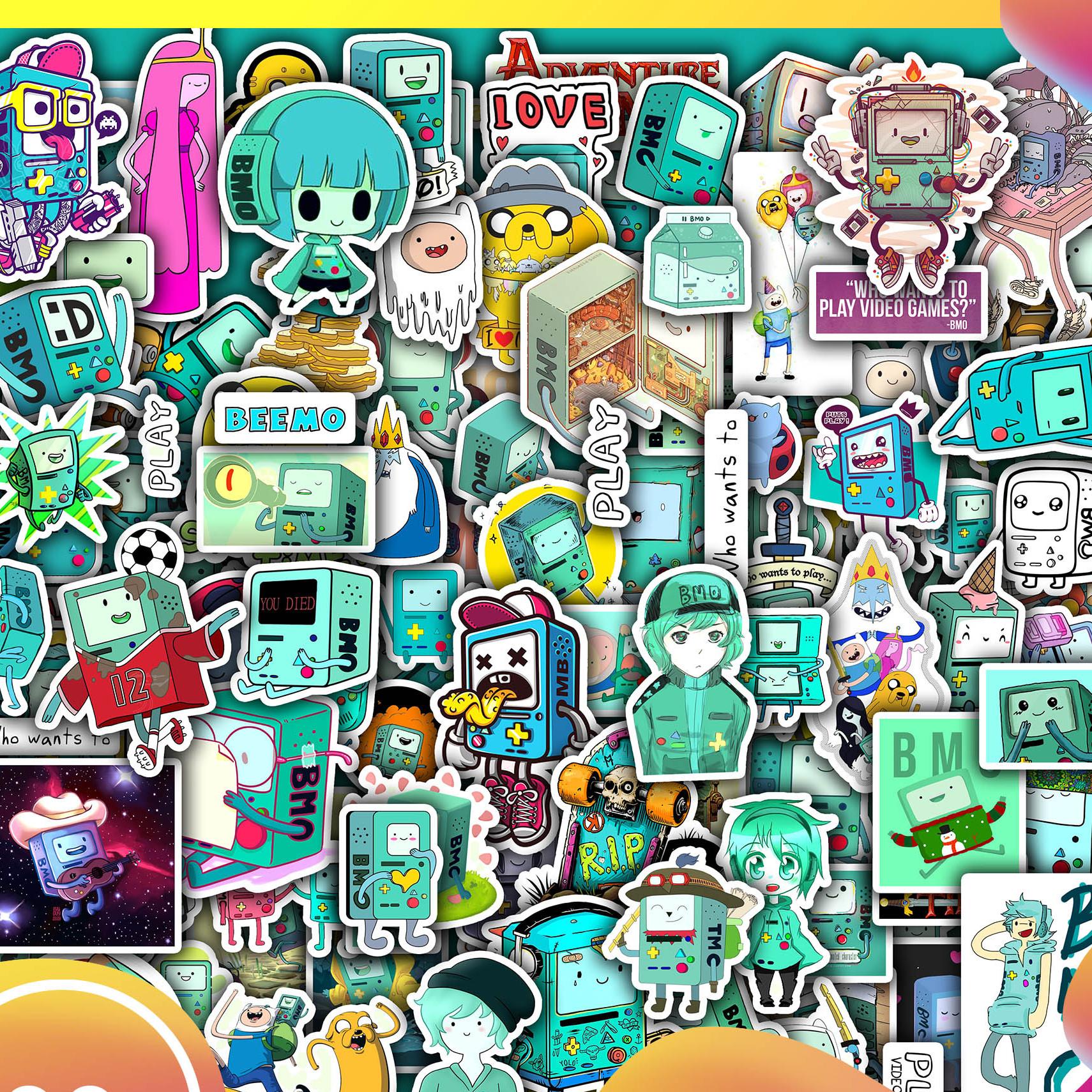 Sticker Dán Nón Bảo Hiểm, Sticker Dán Laptop  50 Sticker Dán BMO