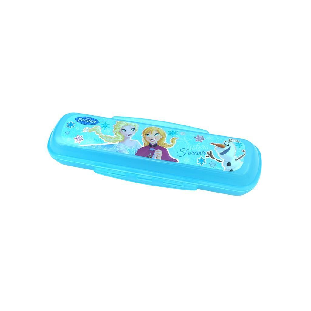 Bộ muỗng đũa tập ăn Elsa , Anna  3D- Disney kèm hộp đựng cho bé