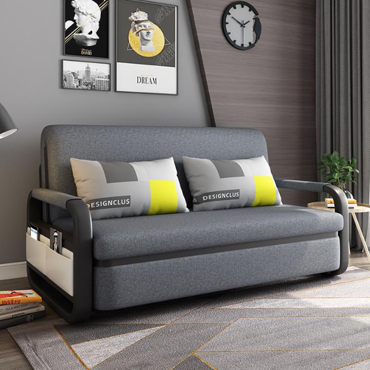 Giường Ngủ Kiêm Ghế Sofa 1m90 x 1m61 Kèm Ngăn Chứa Đồ Đa Năng - Giường Sofa Gấp Gọn Khung Thép Cường Lực Cao Cấp Giường Sofa Đa Năng Gấp Gọn Thành Ghế