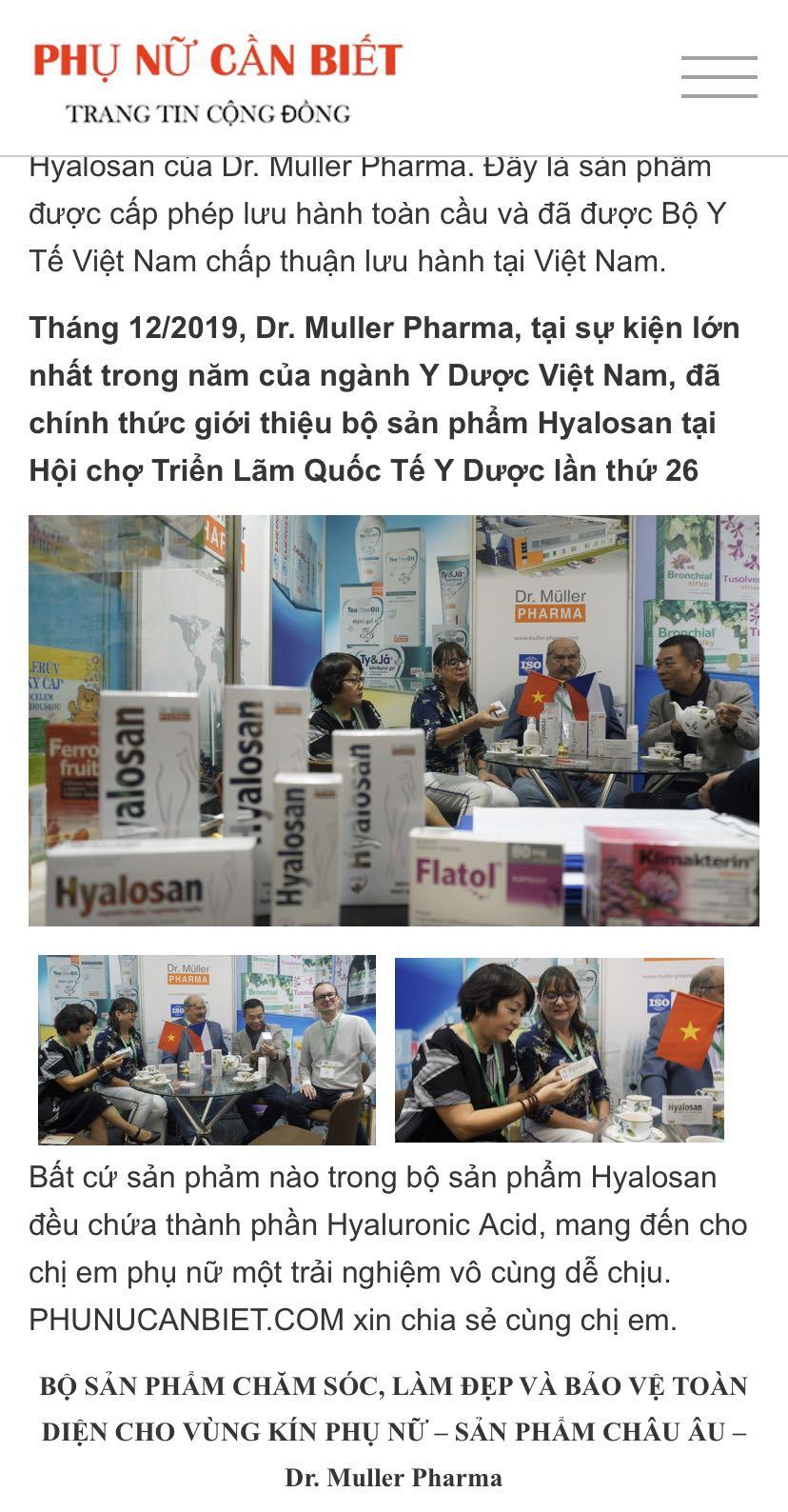 Gel vệ sinh hàng ngày - Hyalosan wash gel 200ml