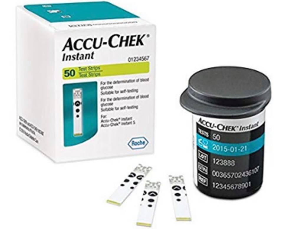 Hộp 50 que thử đường Accu Chek Instant