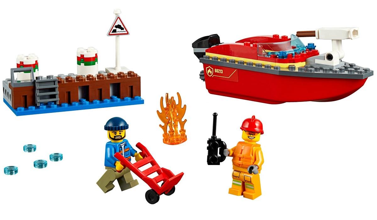 Bộ lắp ráp Cứu Hỏa Bến Tàu - LEGO City 60213 (97 Chi Tiết)