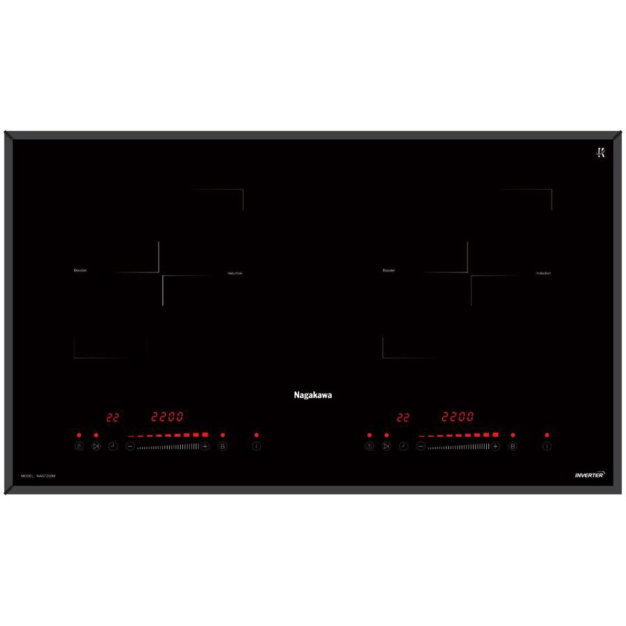 Bếp Âm Từ Đôi Premium Nagakawa NAG1202M (73 cm) - Hàng Chính Hãng
