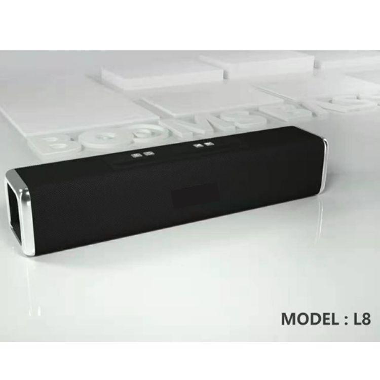 Loa Bluetooth LANITH L8 - Loa Phát Không Dây Cầm Tay - Loa To, Âm Thanh Cực Đã, Bass Siêu Trầm - Cổng Kết Nối Siêu Tiện Ích - Có Khe Đỡ Điện Thoại - Tặng Kèm Cáp Sạc 3 Đầu - Hàng Nhập Khẩu - LB000008-CAP000001