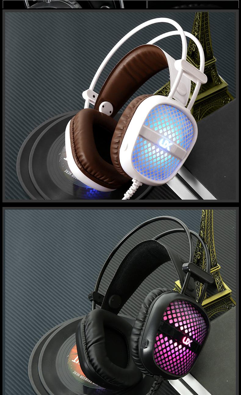 Tai nghe Gaming UX A2 LED đầy màu sắc với Mic - Công nghệ Giảm tiếng ồn PU - giao màu ngẫu nhiên - hàng chính hãng