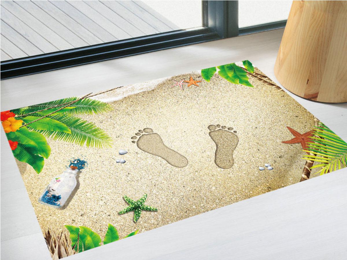 decal dán sàn bàn chân cát xh9298