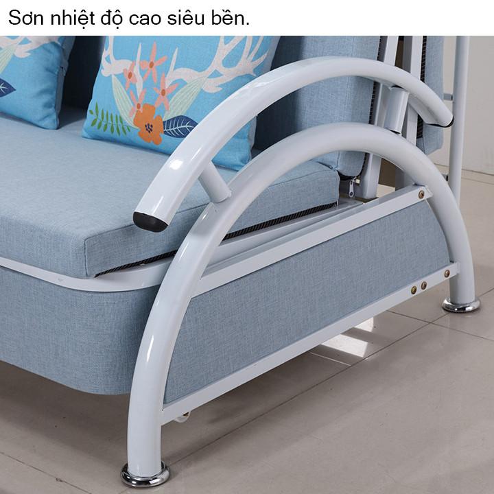 Giường ngủ gập gọn - Giường sofa kèm 2 gối cao cấp - Giường xếp văn phòng