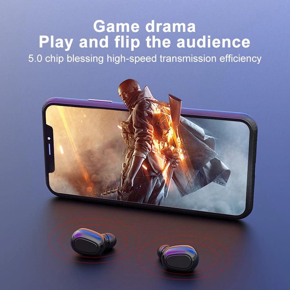 Tai nghe thông minh-Kết nối bluetooth-Cảm biến vân tay-Kháng nước- Âm thanh hay cho samsung iphone ...- Mã số L21