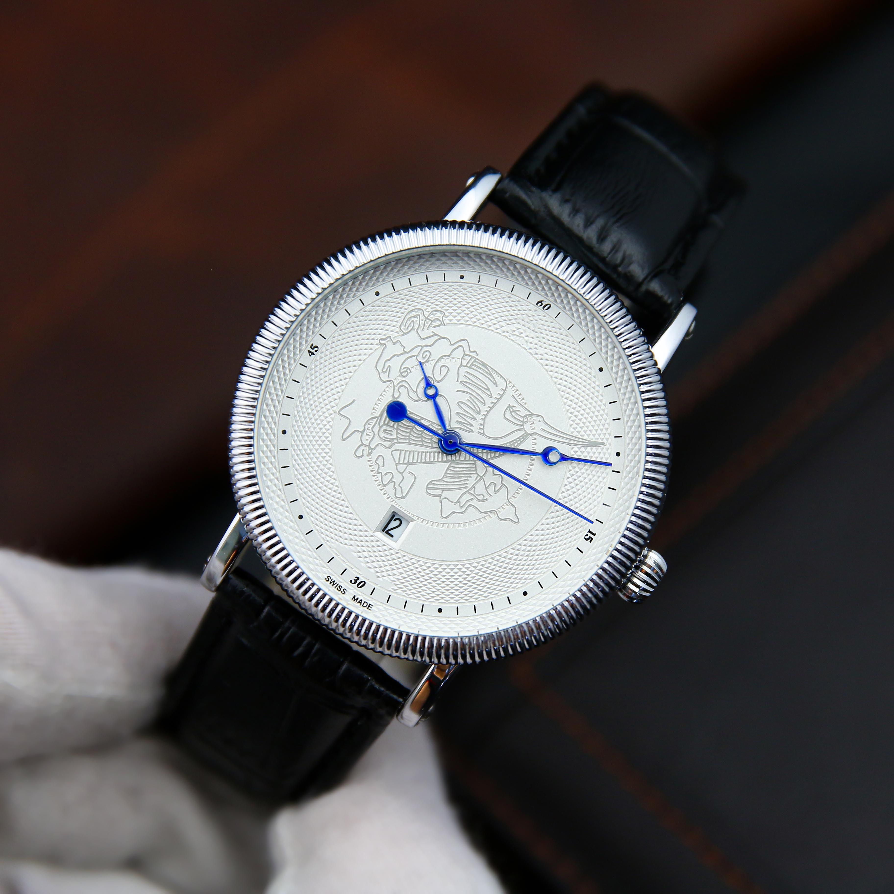 Đồng hồ nam dây da OR2120 phong cách sang trọng mặt kính chống xước cao cấp – Phù hợp đi làm, đi chơi