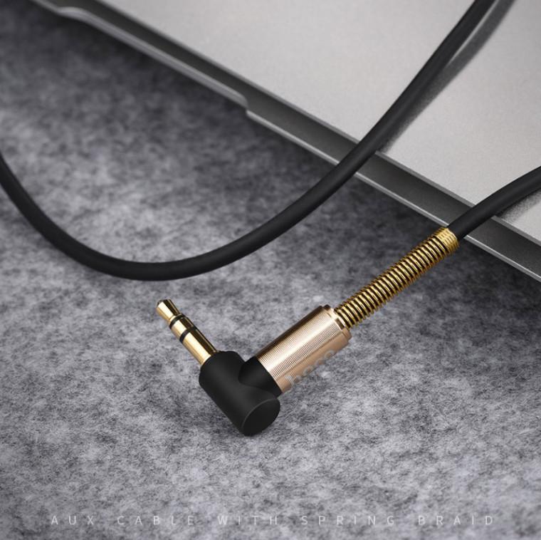 Cáp âm thanh 2 đầu Jack 3.5mm ( 1 đầu vuông góc) Hoco UPA02 - Hàng chính hãng