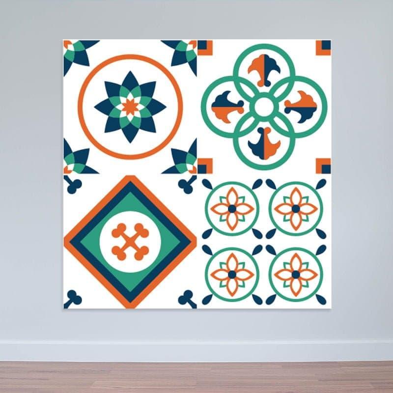 Decal nhám dán tường gạch bông phong cách retro siêu đẹp WD147