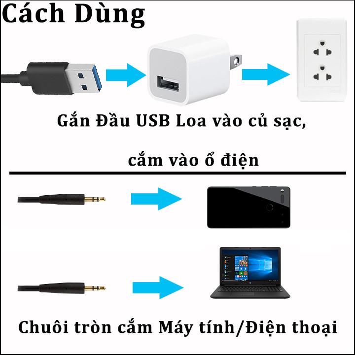 Loa vi tính nghe nhạc cho điện thoại máy vi tính laptop 06 - Hàng Chính Hãng