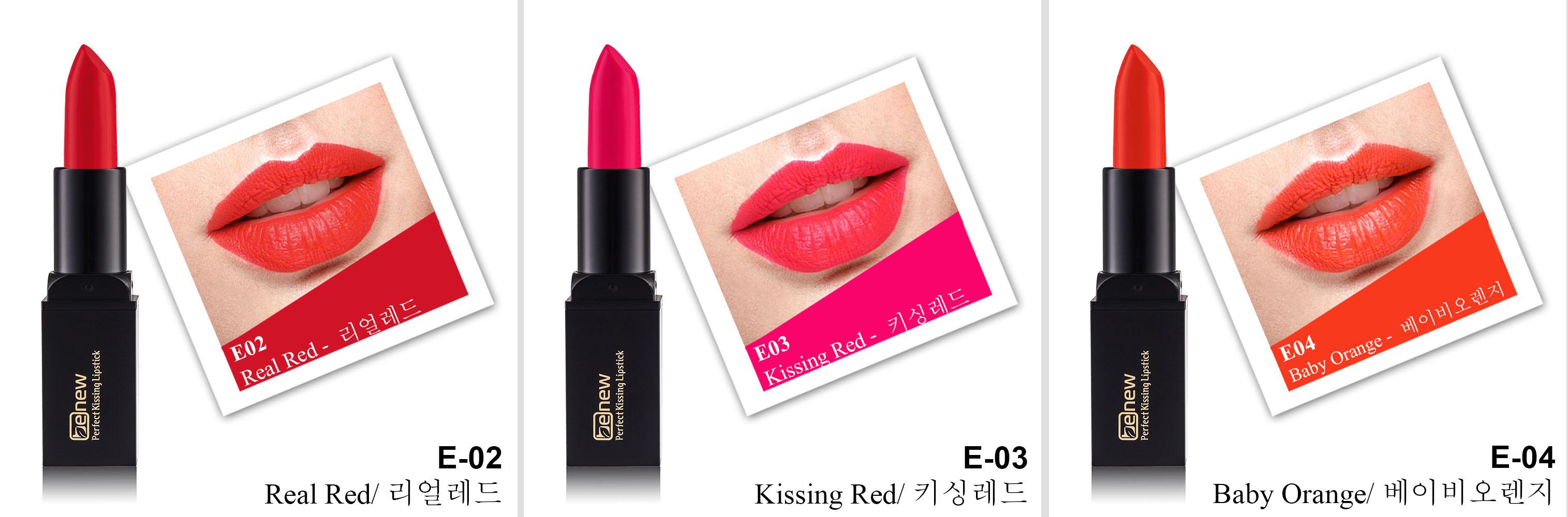 Son lì dưỡng, siêu mềm mượt Benew Perfect Kissing Hàn Quốc 3.5g E02 Real Red tặng kèm móc khóa